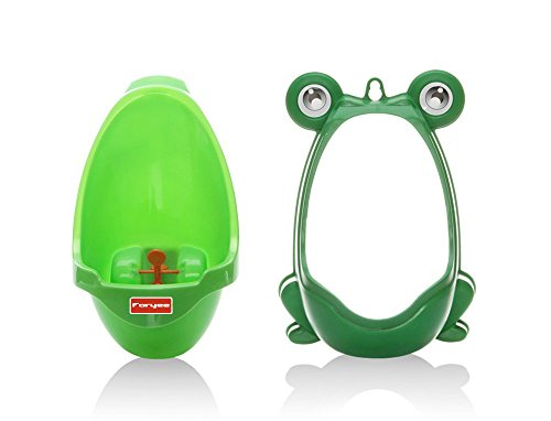 ffa0ad12e19c7 Foryee Cute Frog Potty Training Urinal for Boys with Funny Aiming Target - Blackish  Green