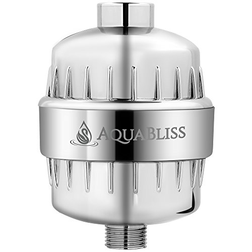 AquaBliss High Output 12-Stage Shower Filter - Reduces Dry Itchy Skin, Dandruff, Eczema, and Dramatically Improves The Condition of Your Skin, Hair and Nails - Chrome (SF100) (Best Bath Water Filter)