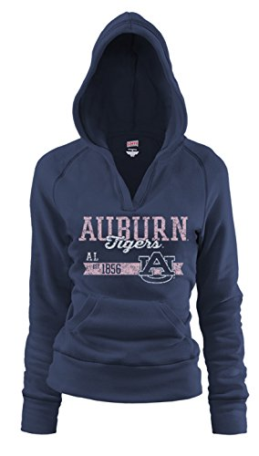 Soffe NCAA Auburn Tigers Junior Rugby Deep College Logo Fleece Hoodie, Large ()