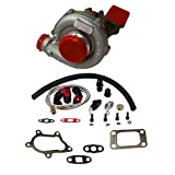 Trim Turbo Turbocharger Compressor 400 + Turbo Charger Oil Drain Return + Feed Line Kit for T04e T3/T4 A/R.63 Stage III Boost