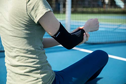 RiptGear Elbow Brace Compression Sleeve for Men and Women – Moderate Compression for Golfers Elbow, Tennis Elbow, Weightlifting, Sports - Small