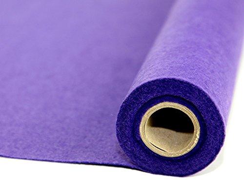 (Sticky Back Self Adhesive Acrylic Felt Fabric Mini Roll 5m Purple - per 5 metre roll)