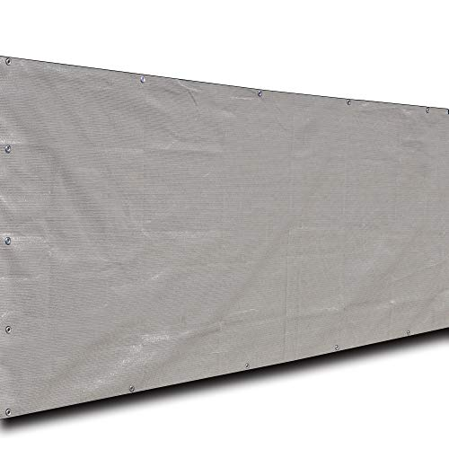 Alion Home Elegant Windscreen Privacy Screen for Deck, Pool, Railing, Backyard Deck, Patio, Fence, Porch - Smoke (3