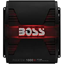 BOSS Audio PT1000 Phantom 1000 Watt, 2 Channel, 2/4 Ohm Stable Class A/B, Full Range, Bridgeable, MOSFET Car Amplifier with Remote Subwoofer Control