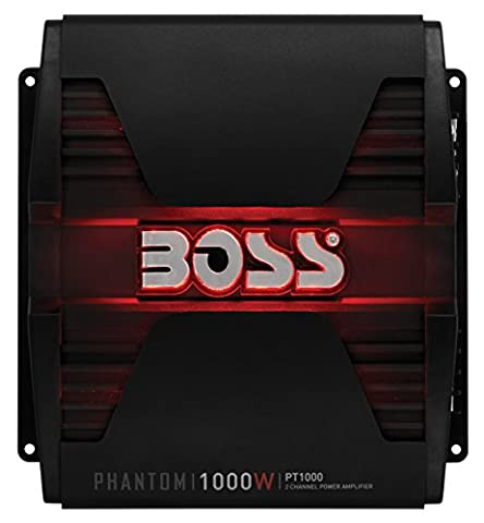 BOSS Audio PT1000 Phantom 1000 Watt, 2 Channel, 2/4 Ohm Stable Class A/B, Full Range, Bridgeable, MOSFET Car Amplifier with Remote Subwoofer (98 Cherokee Stereo Alpine)