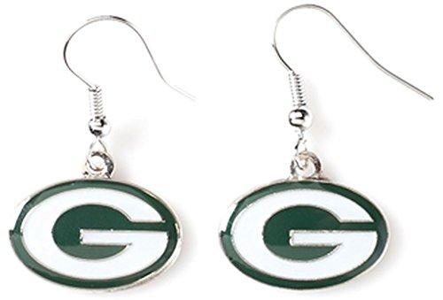NFL Green Bay Packers Logo Dangler Earrings