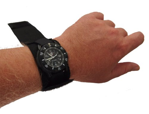 Raine Military Covered Watchband, black