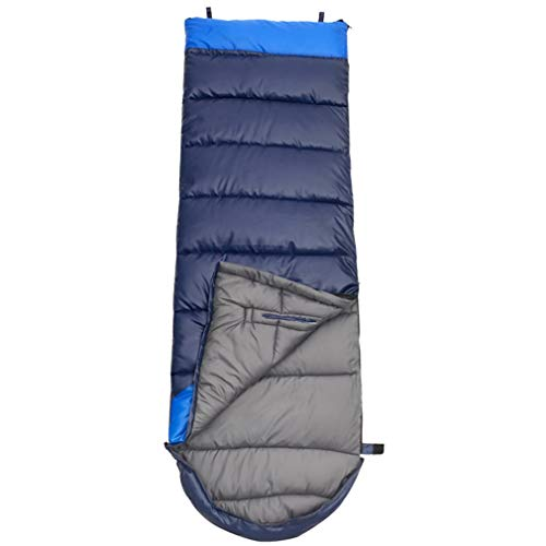 TAFUFALI New Adults' Hollow Cotton Splicing Sleeping Bags Outdoor Sports Camping Climbing Warm Sleeping Bag Blue Right 1350G
