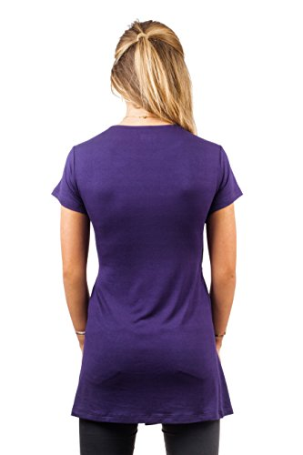 sofsy Soft-Touch Rayon Blend Tie Front Nursing & Maternity Fashion Top Dark Purple X-Large by sofsy (Image #5)