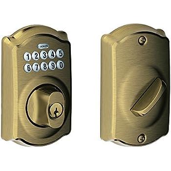 Be365 Cam 609 Camelot Keypad Deadbolt Antique Brass