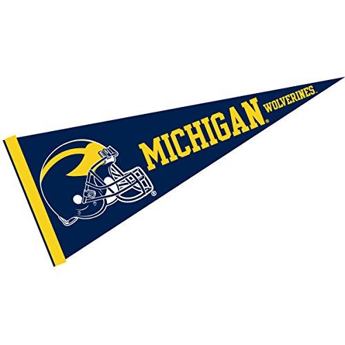 Michigan Wolverines Team Helmet - Michigan Wolverines Full Size Football Helmet Pennant