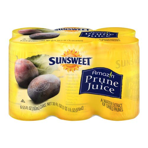 Sunsweet Prune Juice, 5.5 oz, 6 Count - 4 Pack