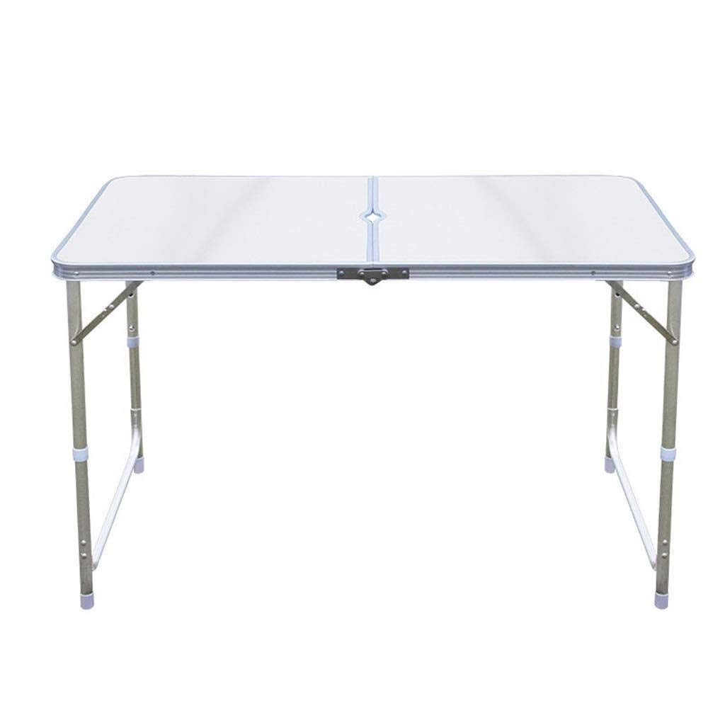 MUMM Picnic Table Fold Away Folding Portable Camping Table Outdoor Folding Table for Barbecue Dinner oO (Color : White) by MUMM