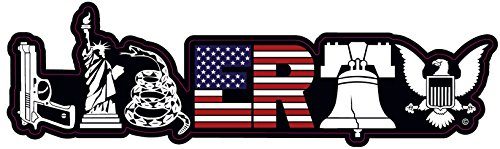 Patriotic Decal Bumper Sticker | Liberty Decal for Truck Car Jeep Rear Window