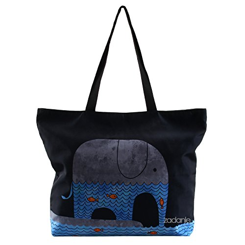 Elephant Shoulder Shopping Ladies Tote Newplenty Satchel Bag Handbag Light Beach Zippered vZqWqTS6