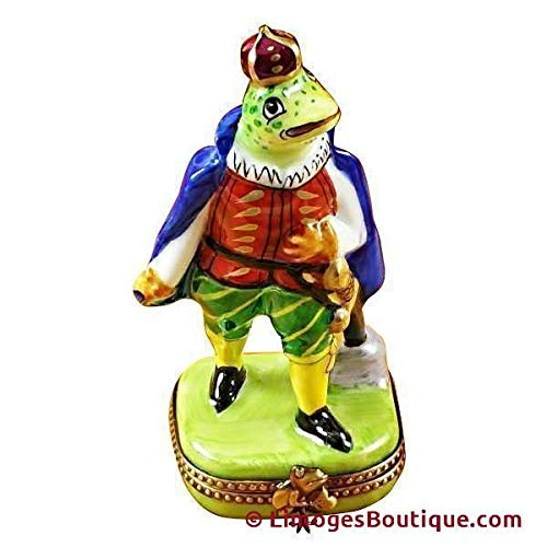 TALL FROG PRINCE - LIMOGES PORCELAIN FIGURINE BOXES AUTHENTIC IMPORTS ()