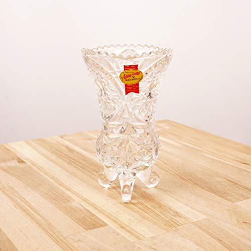 Restored by UkaVintage Anna Hutte Bleikristall Lead Crystal vase || 24% PbO Handmade || Made in Germany