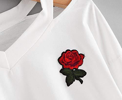 Utensil-Shop Mujer Holes Harajuku Women Sweatshirt Harajuku Long Sleeve Black Rose Long Sleeve, Black, L at Amazon Womens Clothing store: