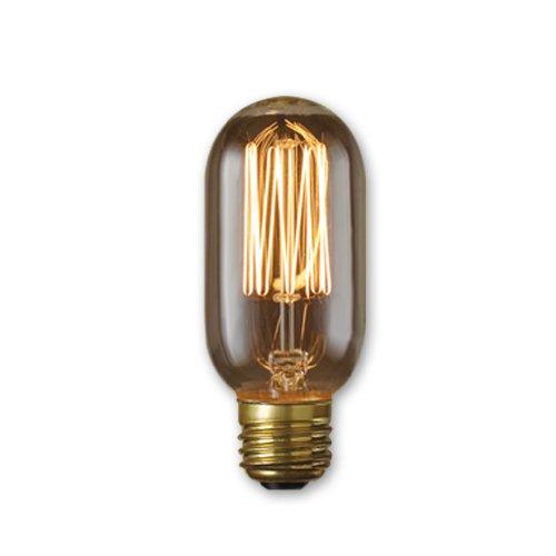bulbrite incandescent t14 medium screw base (e26) light bulb, 40 watt, antique