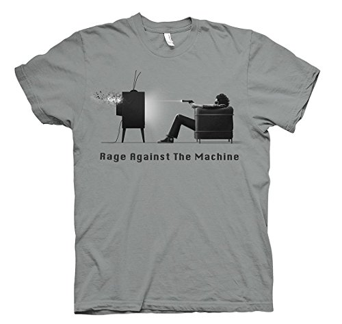 Rage Against Machine Merchandise - Ripleys Clothing Men's Official T Shirt Rage Against The Machine Won't Do X-Large Grey