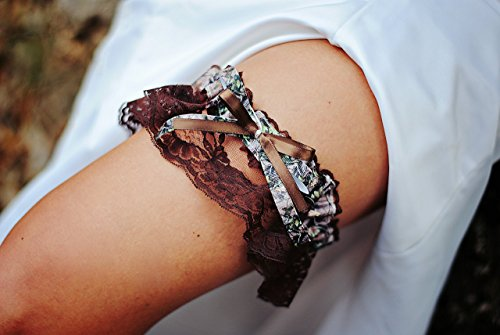 Sexy Camouflage Brown Lace Camo Bling Bridal Wedding Keepsake Garter by Bella Supply Boutique