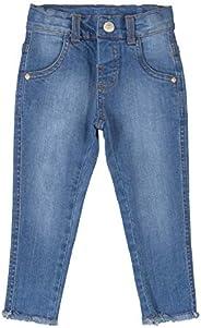 Calça Jeans, Barra Desfiada, Up Baby ,Meninas