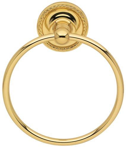 Baldwin 3564.030 Mystic Towel Ring, Polished Brass (Ring Mystic Towel)