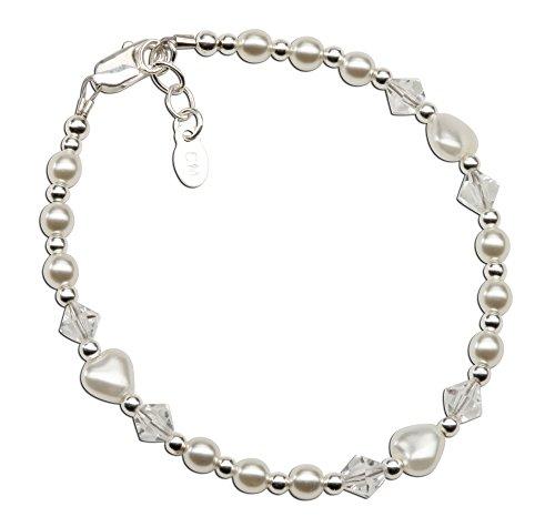 Sterling Baptism Bracelet Simulated Crystals product image