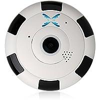 1080P IP Camera, Surveillance Camera 360 Degree Fisheye Panoramic IP Camera Wireless Wifi Wireless Camera with IR Night Vision/2-way Audio/Motion Detection