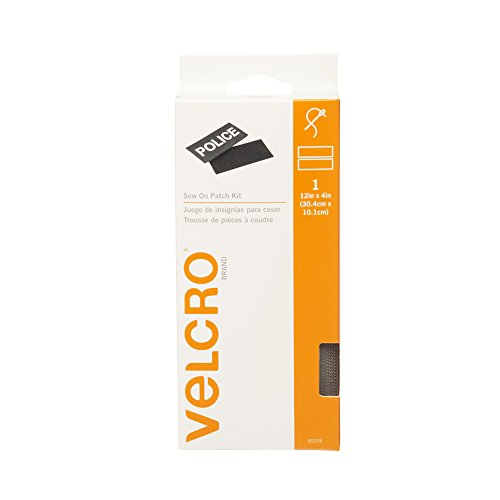 VELCRO Brand For Fabrics | Sew On Patch Kit | No Ironing or Gluing | Removable Patch System for Securing Military and Scouting Patches to Uniforms | Pre-Cut Strips, 12 x 4 inch, Foliage Green
