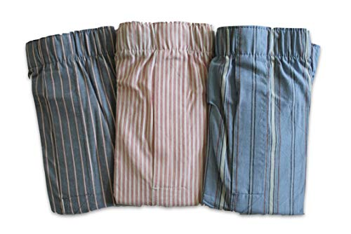 GAP Men's Lot of 3 Boxer Shorts (X-Large 38-40 Inch XL) Vertical Stripes Boxers