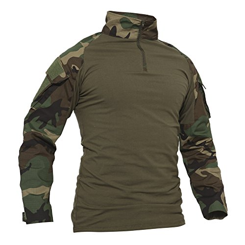 TACVASEN Mens Camouflage Camo Active Assault Long Sleeve T-Shirt Tops Jungle,Jungle Camo,US M