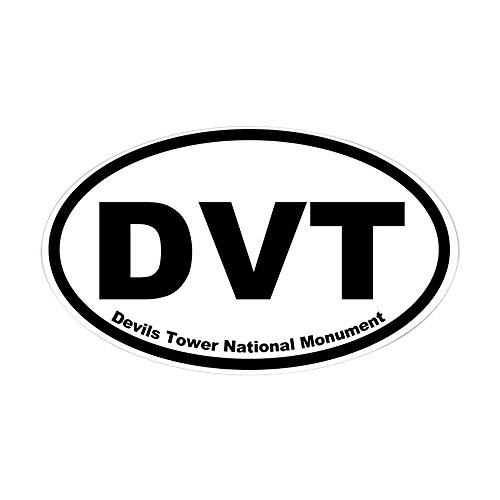 CafePress Devils Tower National Monument Oval Sticker Oval Bumper Sticker, Euro Oval Car Decal