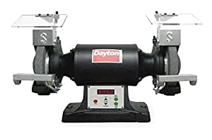 Dayton 2fdb5 Premium Bench Grinder 6 In 3 4hp Var Spd