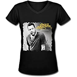 LMF Uncle Kracker Tour 2016 Poster Cotton V-Neck T Shirt For Womens Black L