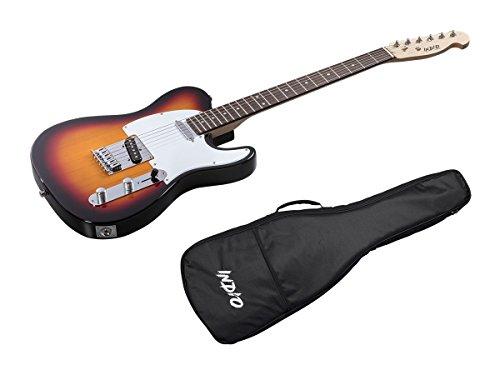 Indio Retro Classic Electric Guitar with Gig Bag-Sunburst