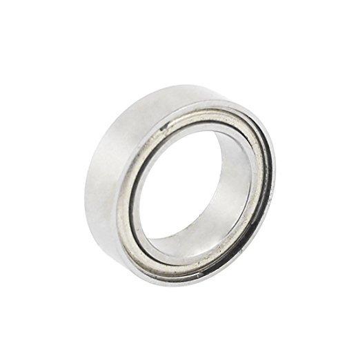 eDealMax gris métal 02138 roulement à billes 15x10x4mm Pour RC 1/10 Voiture sur la Route ()