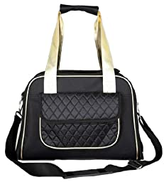 Airline Approved Mystique Fashion Pet Carrier, One Size, Black