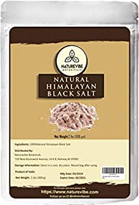 Naturevibe Botanicals 100% Natural & Healthy Himalayan Black Salt 2lb (32 ounces), Gluten-Free & Non-GMO (Fine - Cooking Size) | Adds taste and Flavour [Packaging may vary]