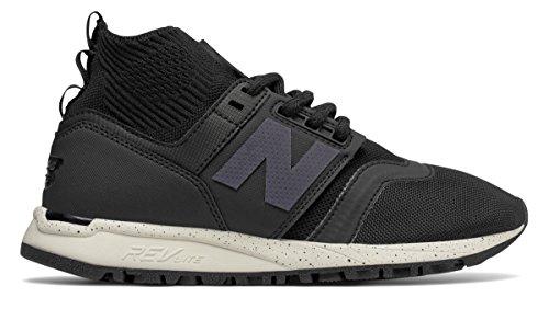 (ニューバランス) New Balance 靴?シューズ レディースライフスタイル 247 Mid Black with Sea Salt ブラック シー ソルト US 9.5 (26.5cm)