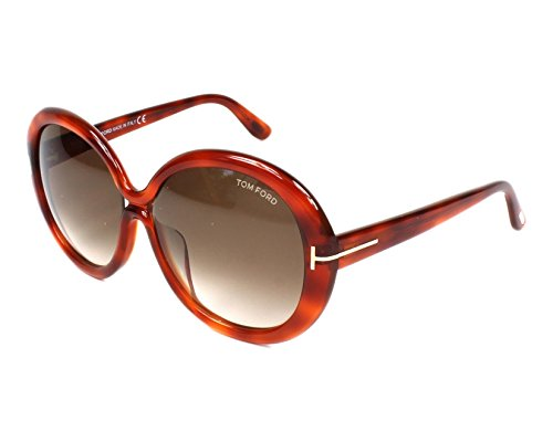 - Tom Ford Womens Gisella Oversized Gradiant Round Sunglasses Brown O/S