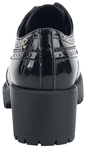 Refresh Noir Black Richelieus Femme 063697 black rqOCgrx