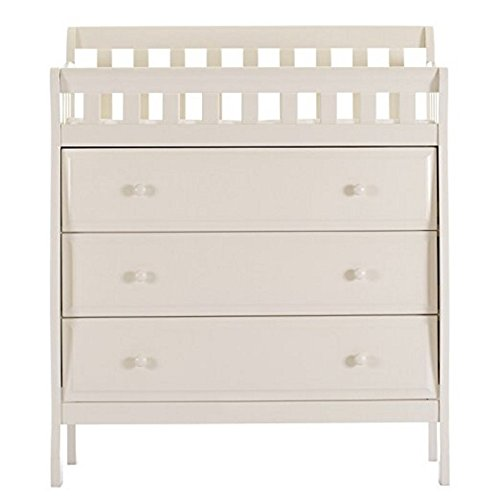 Dream On Me Marcus Changing Table and Dresser, French White