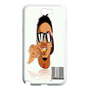 ZK-SXH - August Alsina Diy Cell Phone Case for Samsung Galaxy Note 2 N7100, August Alsina Personalized Cell Phone Case