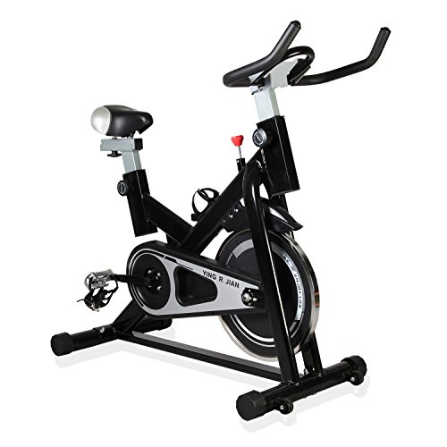 YING R JIAN Exercise Bike Indoor Cycling Bike Home Gym/Stationary Bike Trainer Belt Driven with Flywheel