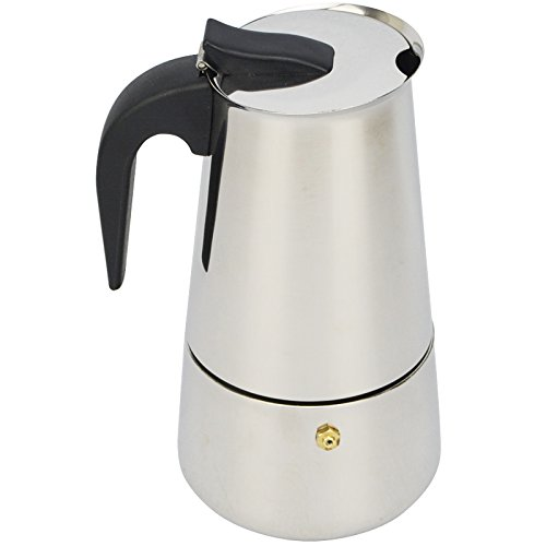 Coffee Maker Espresso Gas/Electric Stove Heat Resistant Handle Home Office Camping Portable Use 4 cups by PetriStor