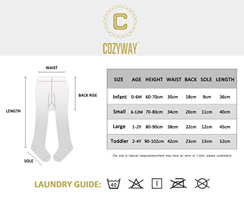 5a25cc70fa549 CozyWay Baby Tights Toddler Seamless Leggings Pantyhose for Baby Girls  Cable Knit Cotton Pants Stockings