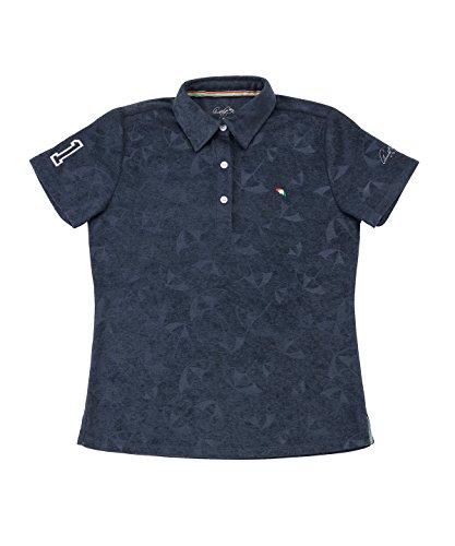 アーノルドパーマー レディース ゴルフ ポロシャツ 半袖 傘エンボス半袖シャツ AP220301H03 NV M