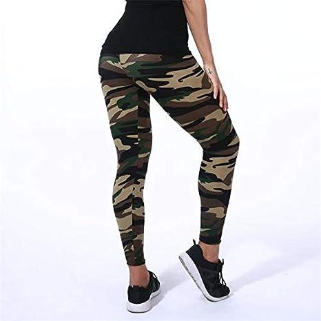 Amazon.com: DeemoShop - Leggins para mujer con estampado de ...