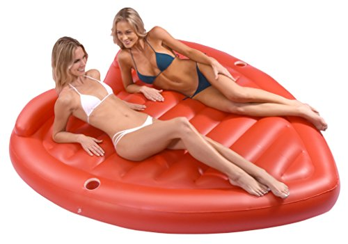 (GoFloats Giant Inflatable Valentines Emoji Heart Raft Pool Float - Comfortably Fits 2 People)